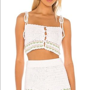 lovers and friends amis crochet top New with tag